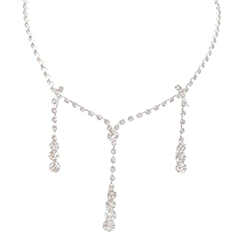 Colliers courts,AMUSTER Charm Prom Wedding Bijoux nuptiaux Crystal Rhinestone Collier