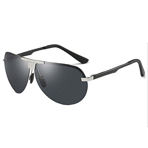 RLJJSH Sonnenbrille Flieger Sonnenbrille Herren Polarisator Nachtbrille Fahrer Brille Angeln Brille Damen Strand Sonnenbrille Sonnenbrille (Farbe : Silber, größe : One Size)