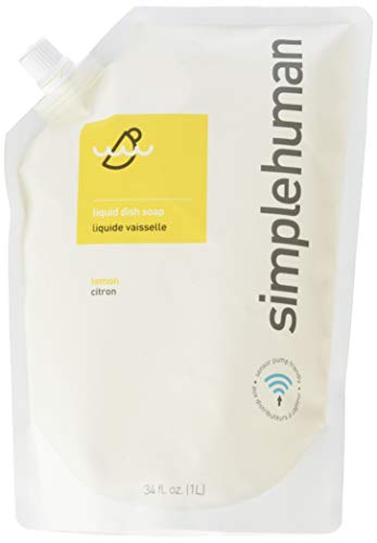 simplehuman Liquid Dish Soap Refill Pouch, 1 L - Lemon