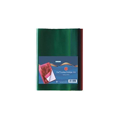 10 Herlitz Heftumschläge / Hefthüllen DIN A4 / 5 verschiedene Farben