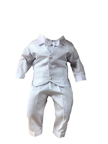 Miss Cocolina Baby Taufanzug Weiß Anzug Taufe Festanzug Taufset (98/104 (30))
