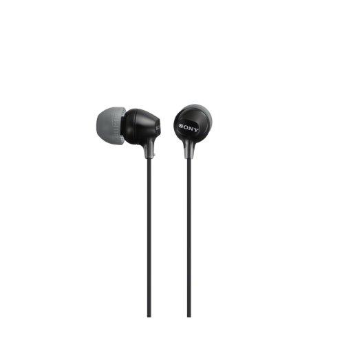 Sony MDR-EX15AP Cuffie Auricolari con Microfono, Nero