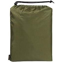 Ganquer 3 en 1 Hombre Mujer Tienda Esterilla Exterior Poncho de una Pieza Impermeable Viaje Ultralight - Verde Militar