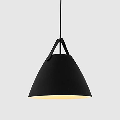 Moderno nordic minimalista creativo luci sospese bar illuminazione soggiorno lampade sala da pranzo apparecchi ristorante luci a sospensione (color : black-a)