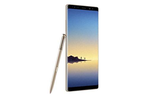 """Samsung Galaxy Note 8, Smartphone de 6.3"""" (4G, escáner de iris, Exynos 8895 Octacore 2.3 GHz y 1.7 GHz, 64 GB, 6 GB de RAM, cámara dual de 12 MP/8MP, Android), dorado (Maple Gold)"""