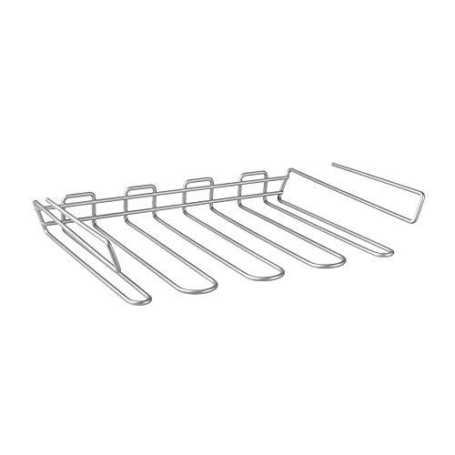 Metaltex 364916039 Porte-Verres à Pieds-MYCRISTAL, Fil de Fer, Argent, 38 x 37 x 7 cm
