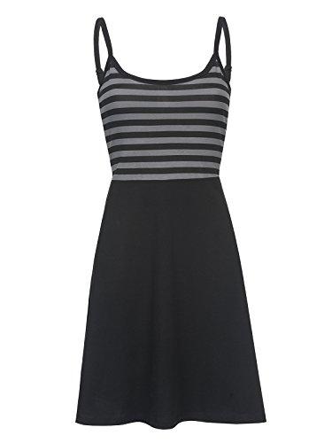 Pussy Deluxe Pretty Stripes Dress Kleid schwarz/grau L