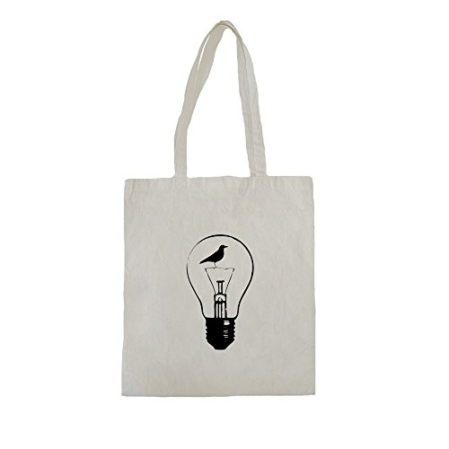 Lona-de-algodn-bolsa-de-la-compra-con-Beautiful-Black-Electric-Lamp-and-Raven-Illustration-impresin