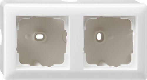 Preisvergleich Produktbild Gira 006203 Aufputz-Gehäuse mit Rahmen 2-fach Reinweiß glänzend