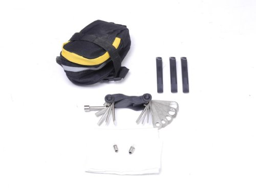 Werkzeug Sattel Tasche Fahrrad Reparatur Pannenset mit Tool BOX 23 teilig SET