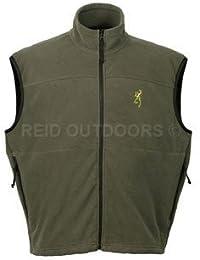 Browning Genesis forro polar chaleco/chaleco de caza/Tiro, color verde