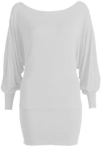Inconnu femme chauve-souris-haut en jersey grand modèle Blanc