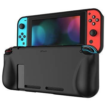 JETech Custodia per Nintendo Switch Cover con Assorbimento degli Urti e Anti Graffio Nero