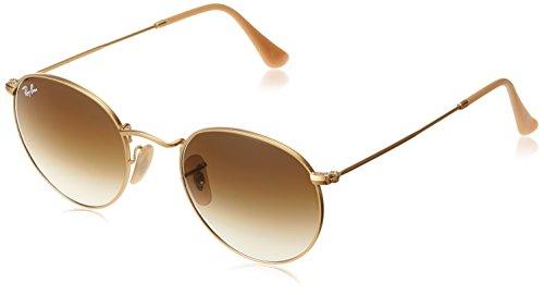 Ray Ban Unisex Sonnenbrille Round Metal Gestell: Gold, Gläser: braun Gradient 112/51), Medium (Herstellergröße: 50)