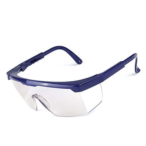 Aszhdfihas Schutzbrillen Schutzbrille mit klarem Anti-Fog Kratzfest Wrap-Around-Objektive und Rutschfeste Griffe schwarz, blau, weiß Komfort (Farbe : Blau)