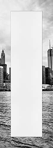 Artland Qualitätsspiegel I Spiegel Wandspiegel Deko Rahmen mit Motiv 50 x 140 cm Städte Amerika Newyork Foto Schwarz Weiß D8OS Lower Manhattan Skyline vom Brooklyn Bridge Park Gesehen
