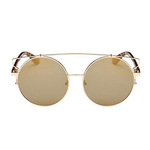 OverDose Unisex Vintage Classic Metallrahmen Sonnenbrille Katzenaugen Brille Reflektierenden Spiegel (B-A)