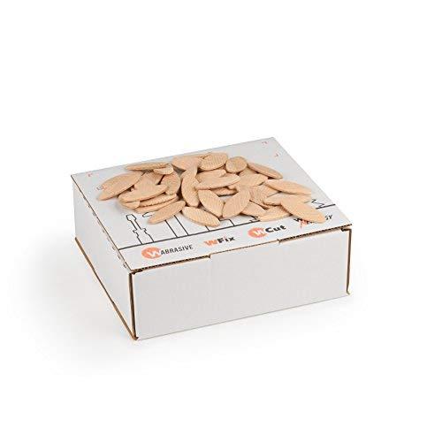 Flachdübel von WFix Größe 10 | 500 Stück | Dübel aus massiver Buche | Kompatibel mit der Dübelfräse & Lamellofräse | Holzdübel wie Lamello