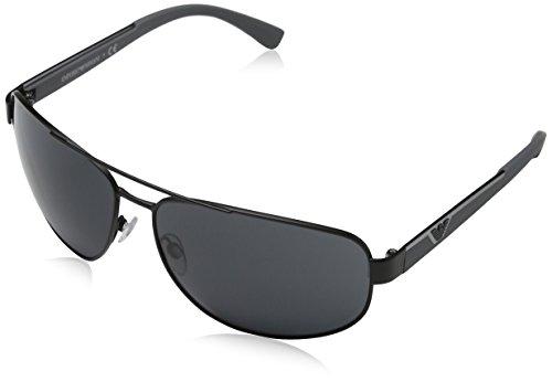 Emporio Armani Unisex EA2036 Sonnenbrille, Schwarz (matte black 300187), X-Large (Herstellergröße: 64)
