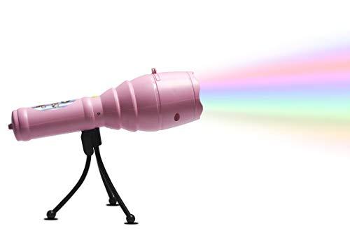 Christmas Lights Projektor, LED Tragbare Taschenlampe Mit 12 Muster Folien Und Stativ Musik Batterie Betrieben Für Party, Geburtstag, Weihnachten, Halloween,Pink