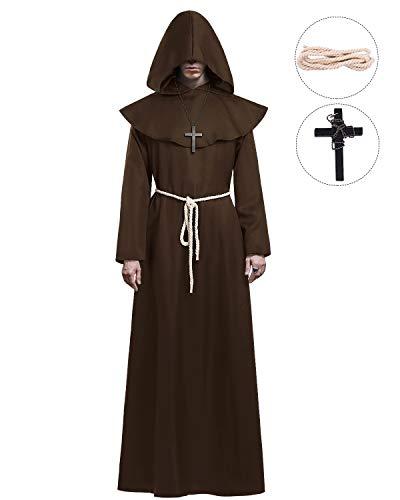 KONVINIT Mönch Robe Kostüm Männer Prister Gewand