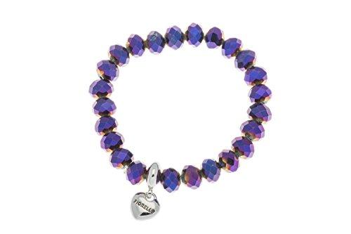 fiorelli-costume-collection-braccialetto-elastico-con-perline-colore-viola-metallizzato-con-ciondolo