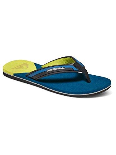 Quiksilver Molokai New Wave Deluxe - Tongs pour Homme AQYL100413 Bleu - Blue/Yellow/Blue