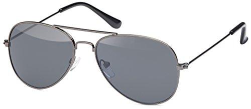 Sonnenbrille Pilotenbrille Fliegerbrille retro Aviator für Kinder in schwarz