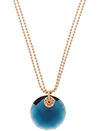 Folli Follie Collar 3N0T004RU Metal Rosado / Azul
