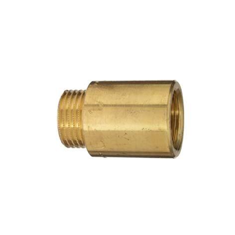 Cornat Hahnverlängerung, Messing blank mit Innen und Außengewinde, A 1/2Zoll IG , B 40 mm, 1 Stück, T381501 (Rohr Wasser)