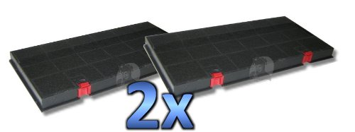 DREHFLEX® - 2 Kohlefilter / Aktivkohlefilter für Dunstabzugshaube - passend für Hauben von AEG / Juno / Electrolux auch Bosch / Siemens auch Bauknecht / Whirlpool - mit roten Knöpfen - passend für DKF24 / KLF60/80
