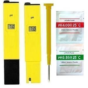 Yeme Digital PH Meter Tester For Aquarium Pool with calibration buffer and hard plastic protective case