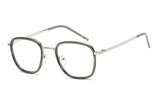 Embryform Trendy Unisex Retro Klarglas Brille