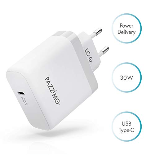USB-C Power Delivery Ladegerät 30W - USB C Netzteil für iPhone X/XR/XS, iPad Pro, Apple MacBook ab 2015 & MacBook Air 2018 - kompakter Power Charger Adapter - Weiß