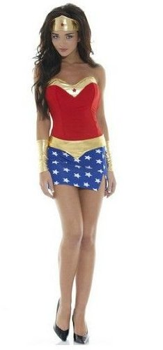 Sexy Wonder Woman Costume Dress Costume Size 10-12