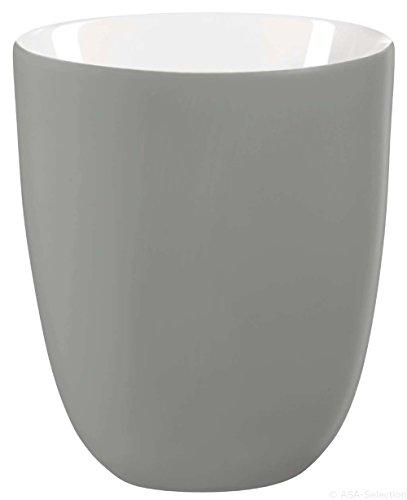 ASA 60004237 Vase OVALE - Graphit matt/matt grau 28 x 22,5 x 16 cm - Oval Matt