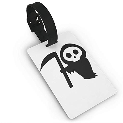 (Ewtretr Gepäckanhänger for Travel Luggage Tags with Genuine Hand Strap Halloween Pumpkin Stencils Witch Travel Suitcase Bag Tag Identify Label)