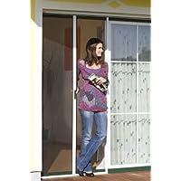 Windhager 03805 Insektenschutz-Rollo Tür 225 x 160 cm, braun