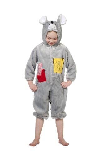 Wilbers - Disfraz de ratón infantil, talla 128 cm (99326128)