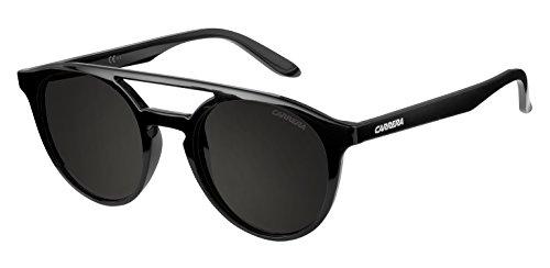 Carrera UV Protected Browline/Clubmaster Unisex Sunglasses - (CARRERA 5037/S D28 49NR|49|Black Color)