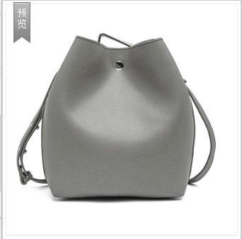 Mefly Leder Tasche Leder Handtasche Diagonal Single Schultertasche Aus Leder gray
