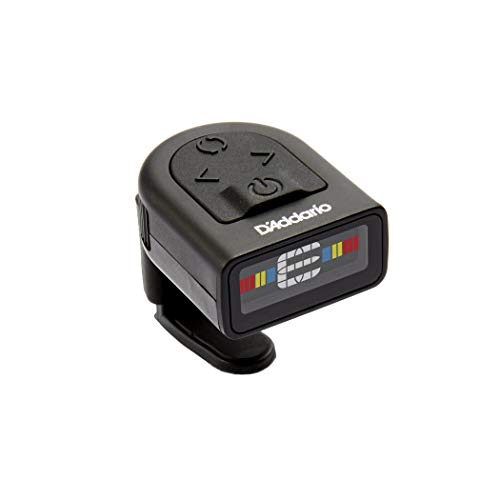 Planet Waves NS Micro Headstock Tuner - Sintonizador Ns de Guitarra con Pantalla Multicolor, Color Negro, Negro