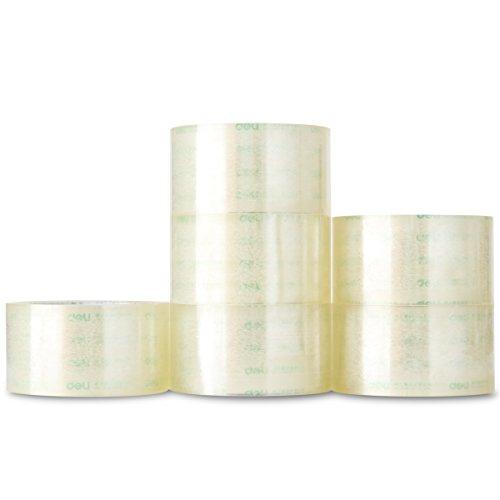 Palucart 6 rotoli nastro adesivo 48x66 per imballaggio colore TRASPARENTE