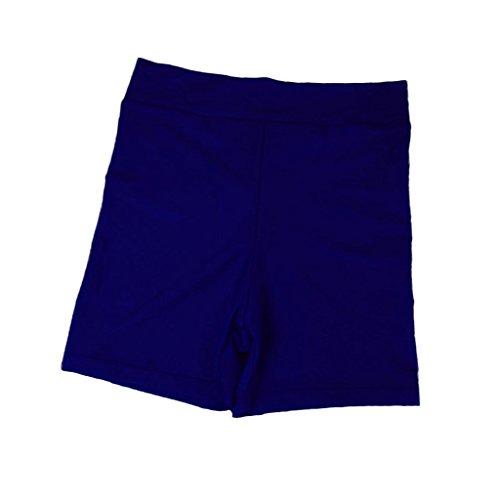 Baoblaze Damen Elastisch Sport Shorts Kurze Sporthose Strand Yoga Strech Hotpants Panties Mini Shorts - Navy blau, L -