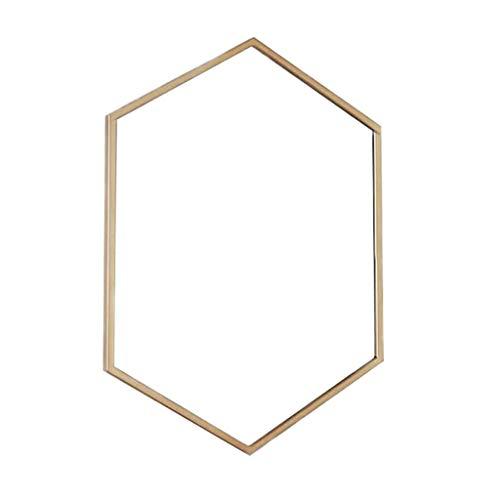 Moderner Sechseck-dekorativer Spiegel für Schlafzimmer, Wohnzimmer, Badezimmer-Eitelkeit-Ausgangsdekor, gerahmter Wandspiegel des Metalls (Eitelkeit Spiegel Badezimmer)