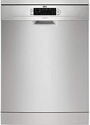 AEG FFB63700PM Independiente 15cubiertos A+++ lavavajilla - Lavavajillas (Independiente, Acero inoxidable, Tamaño completo (60 cm), Acero inoxidable, Botones, 1,8 m)