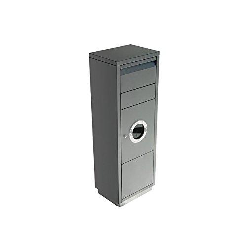 Radius Paketbriefkasten - Letterman Standing Ovation 1 - mit Bullauge - anthrazit - 600 G