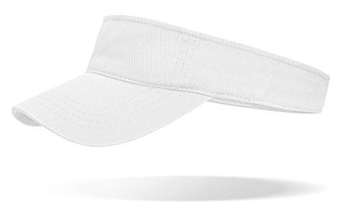 Sun Visor Cap offene Schirmmütze mit Klettverschluss weiß OneSize
