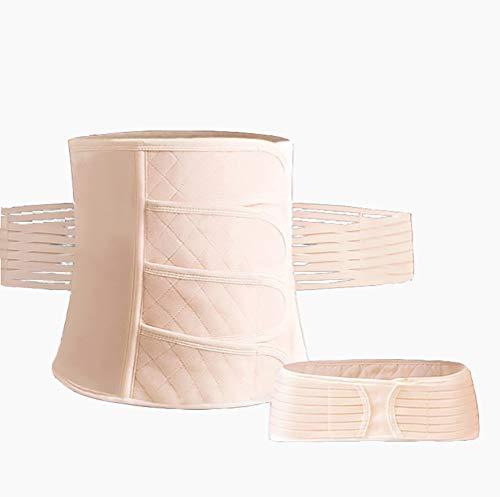 2 in 1 Postpartale Gürtel Gürtel Gürtel Bauch nach der Geburt Bauchband Postpartale Unterstützung C-Section Recovery Gürtel Frauen Taille Becken Shapewear Bauchbinder,Skin,L