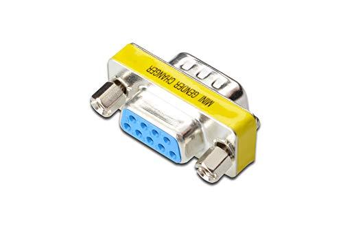 Seriell Rs-232 Gender Changer (DIGITUS D-Sub 9 Gender-Changer - Adapter - 9-Pin Kupplung - Stecker zu Buchse - RS-232 - RS-485 - TTL - Metallgehäuse)